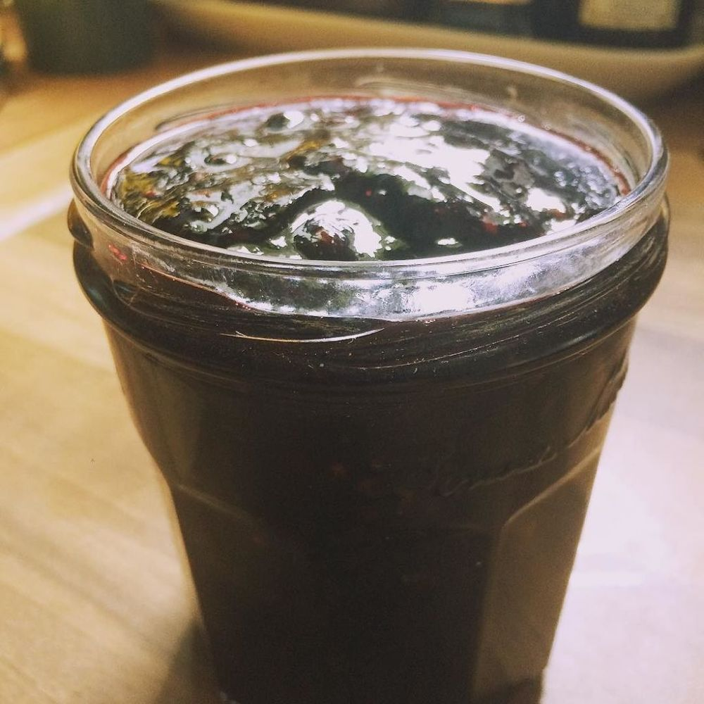 black and blueberry jam